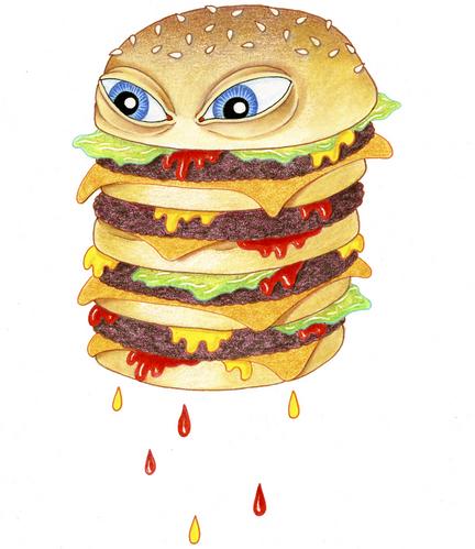 food burger art