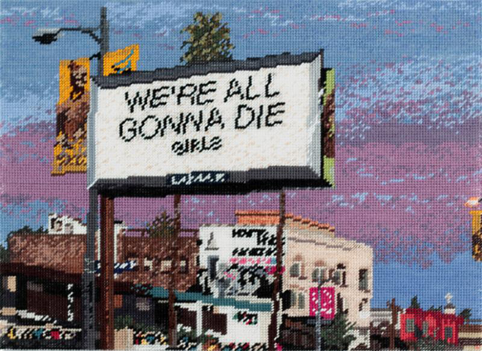 We're All Gonna Die – Needlework by Michelle Hamer