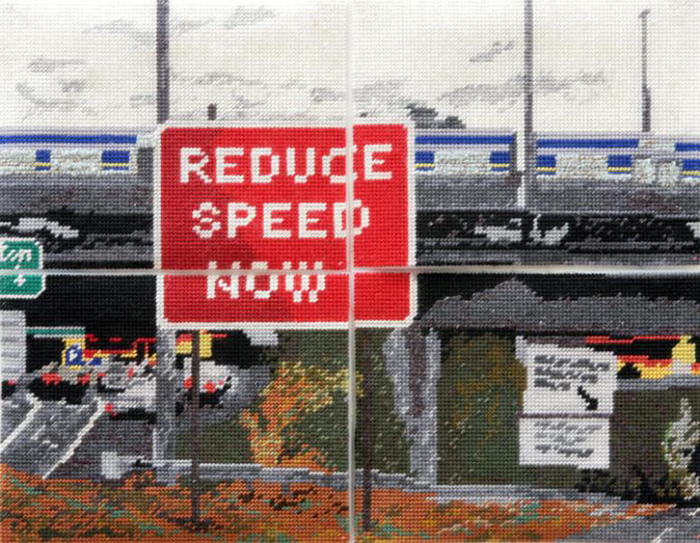 Reduce Speed Now – Needlework by Michelle Hamer