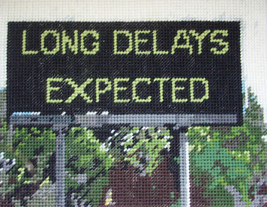 Long Delays Expected – Needlework by Michelle Hamer