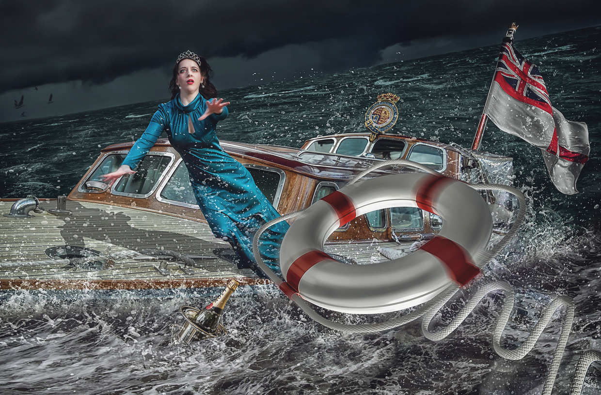 Glamourous Woman on a Sinking Boat - Photo by Lee Howell