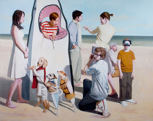 The Beach Party - Painting by Brian Brown