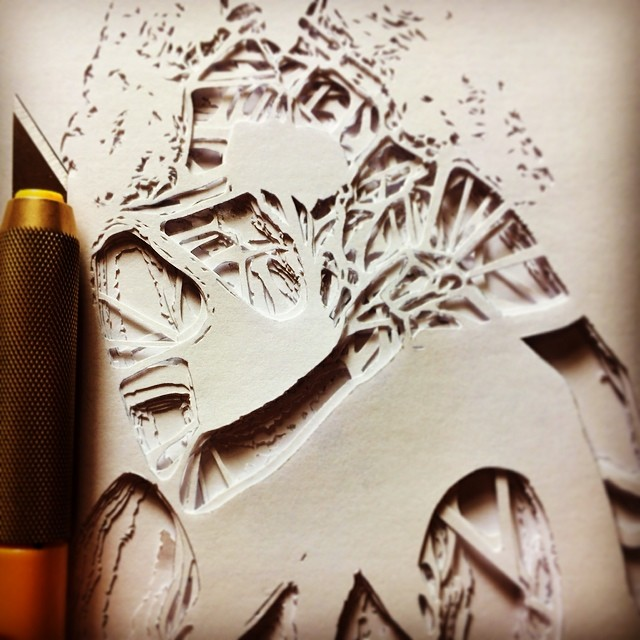 Intricately Hand-Cut Stencils - Work in Progress by Penny
