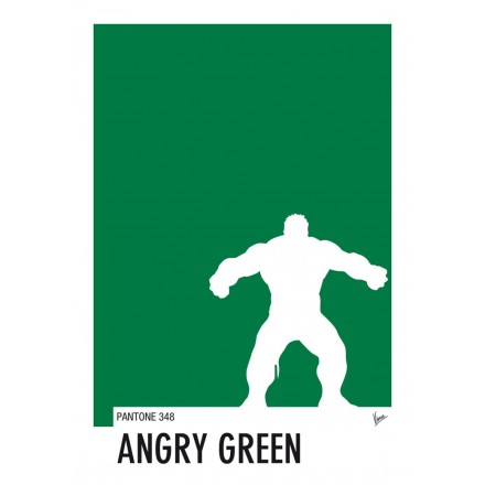 My Superhero 01 Hulk - Angry Green Pantone Poster - Art by Chungkong