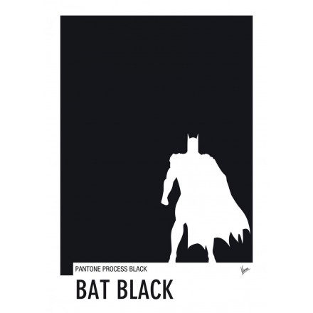 My Superhero 02 Batman - Bat Black Pantone Poster -Art by Chungkong