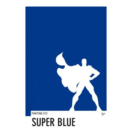My Superhero 03 Superman - Super Blue Pantone Poster - Art by Chungkong