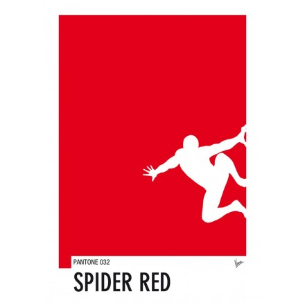 My Superhero 04 Spiderman - Spider Red Pantone Poster - Art by Chungkong