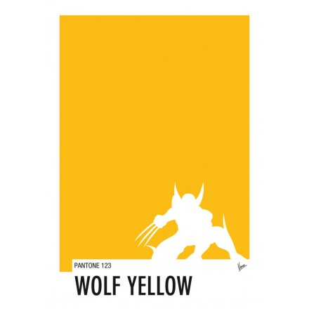 My Superhero 05 Wolverine - Wolf Yellow Pantone Poster - Art by Chungkong