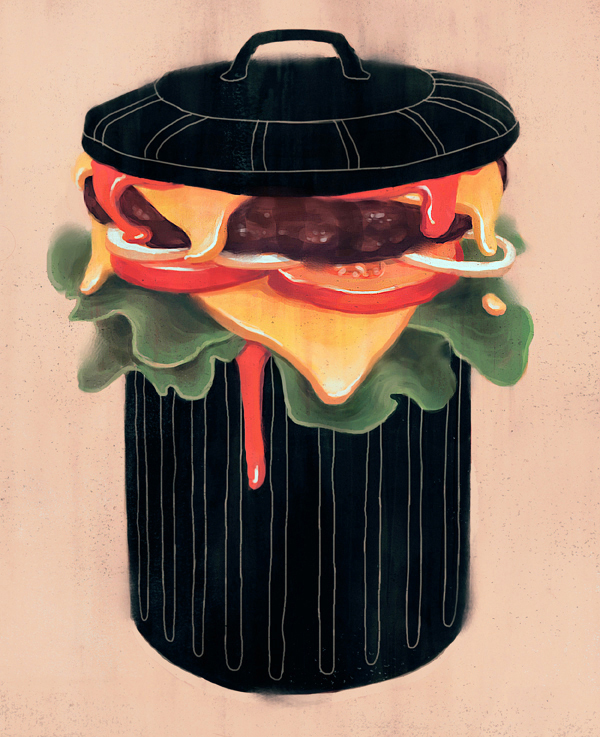 Junk Food - Illustration by Fredrik Rattzen