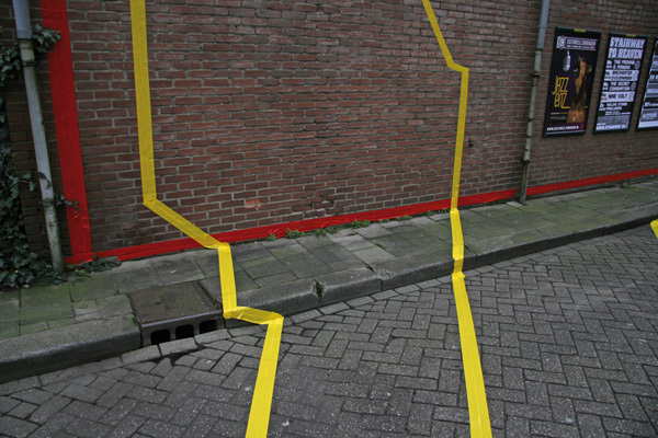 Marking Lost Space - Street Art by Jasper Jongeling