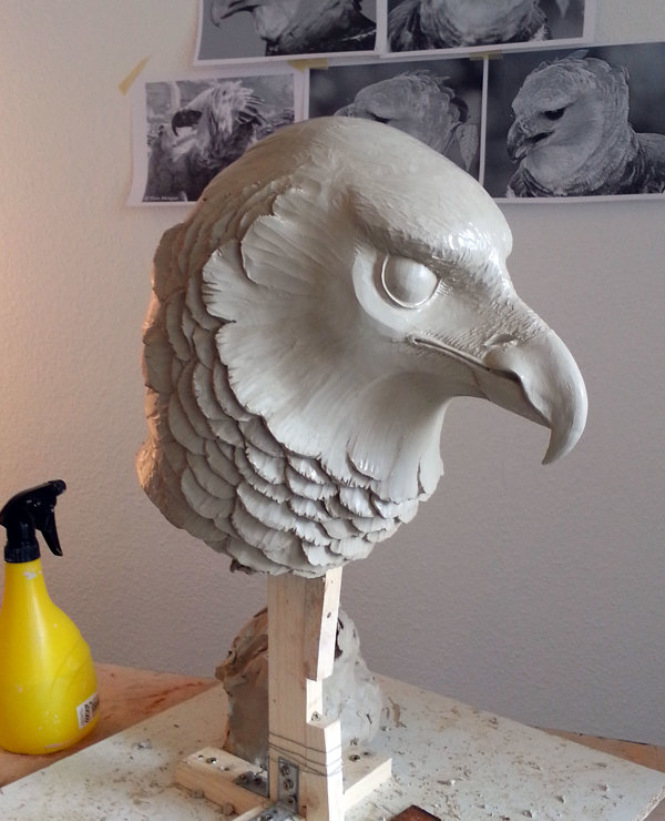 Eagle WIP - Animal Watching Exhibition – Sculpture by David Moreno