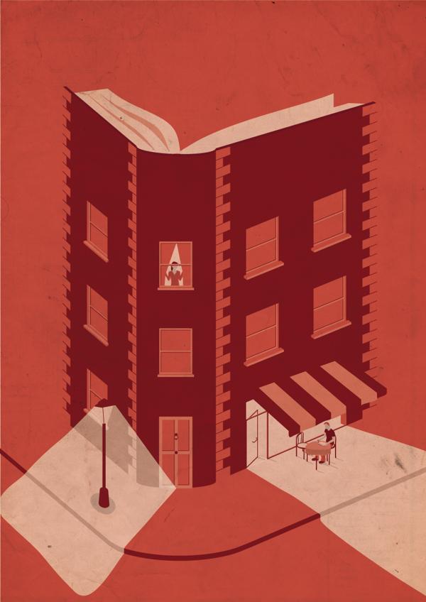Alternate Cover for Au Bon Roman - Illustration by Victor Cavazzoni