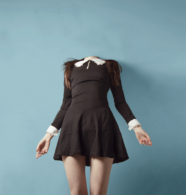 Woman without head Portrait by Flora Borsi