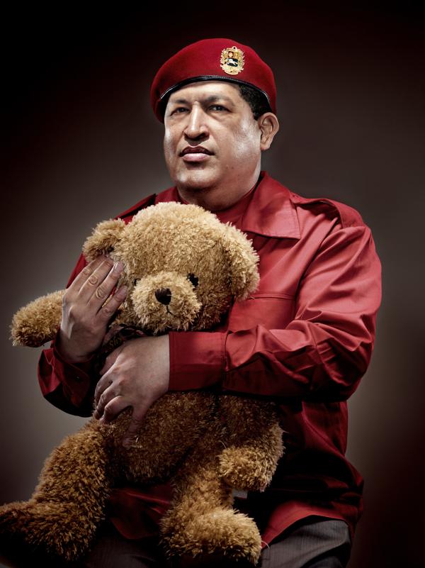 Hugo Chavez with Teddy Bear – by Chunlong Sun