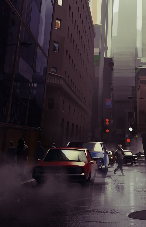 Cityscape 2 - Digital Painting by Michal Sawtyruk