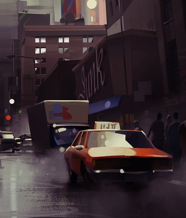 Cityscape 3 - Digital Painting by Michal Sawtyruk