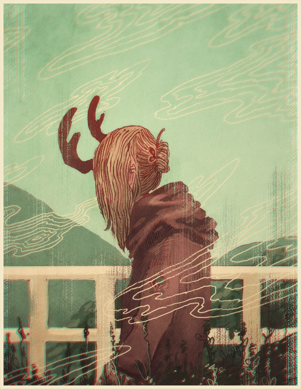 Last Year's Antlers - Art by James Fenner