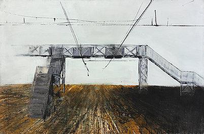 Footbridge - Painting by Dániel Bajkó