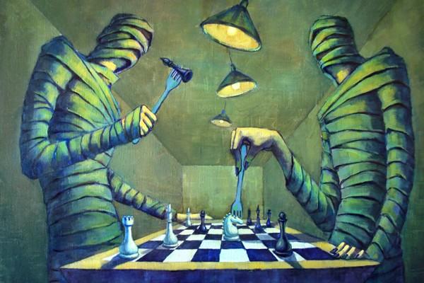 Chess Players - Painting by Dmitry Savchenko