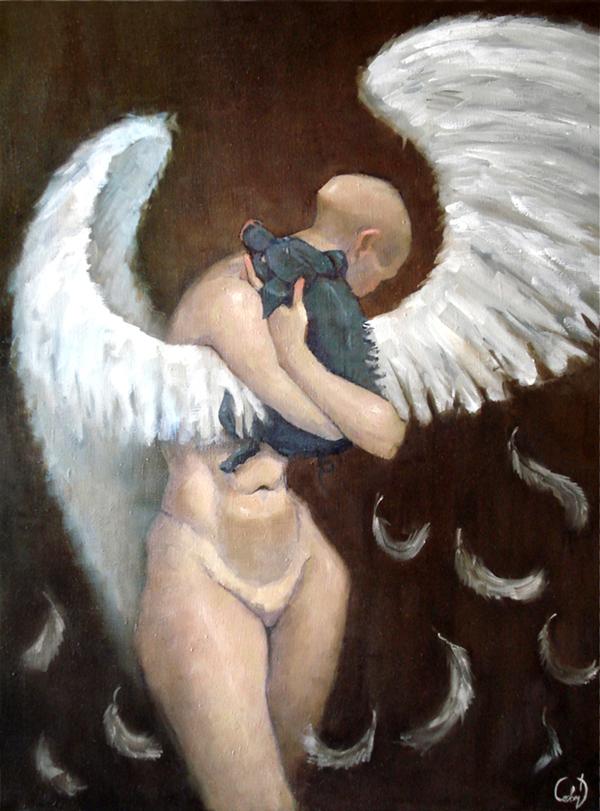 Dark Pig - Painting by Dmitry Savchenko