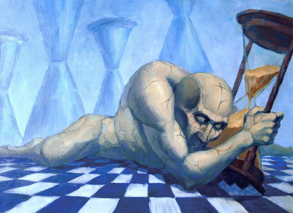 The Dropped-Out Fragments - Painting by Dmitry Savchenko