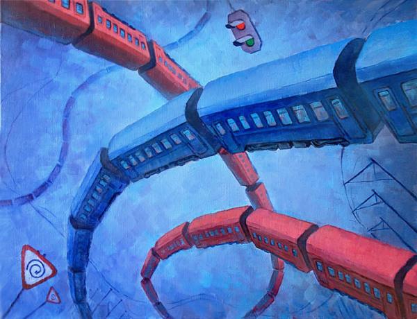 Amnesia - Painting by Dmitry Savchenko