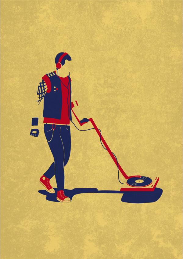 Heavy Metal Detector - Illustration by Victor Cavazzoni