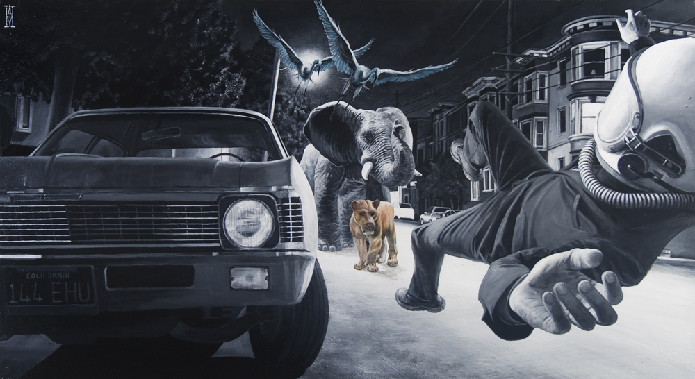 Astronomical Menagerie  - Painting by Alec Huxley