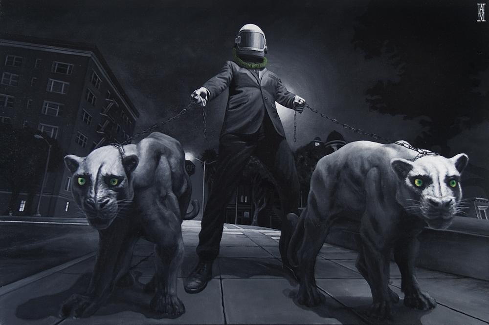 My Reflection Kills  - Painting by Alec Huxley