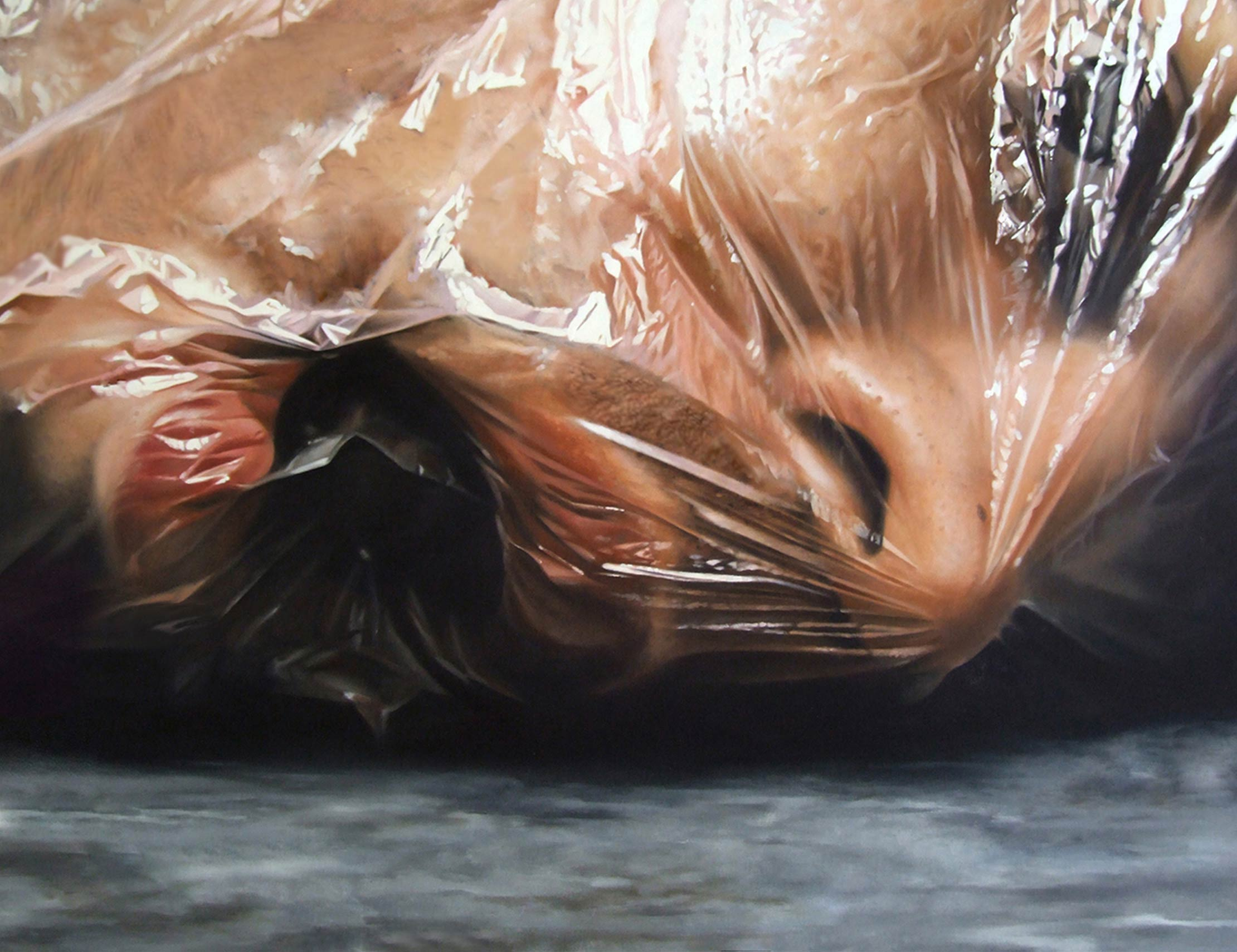 Magalhaes Disturbing Shockingly Realistic Oil Paintings Of His Own Dead Bodyarthaus
