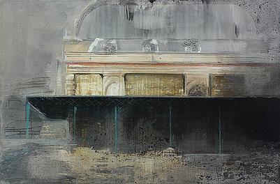Royal Waiting Room - Painting by Dániel Bajkó