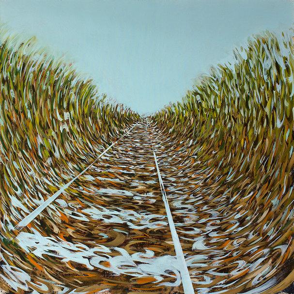 Straight Labyrinth II - Painting by Dániel Bajkó