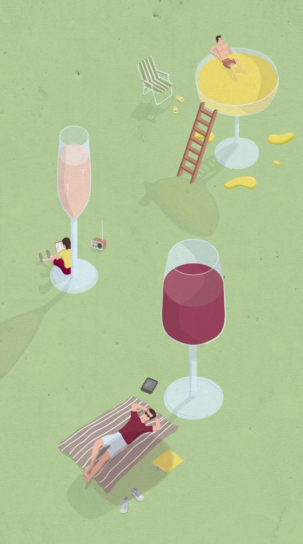 Wine Tasting Event - Illustration by Victor Cavazzoni