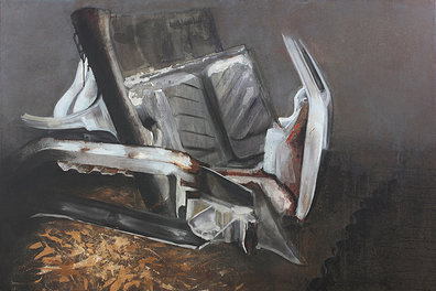 Wreck I - Painting by Dániel Bajkó