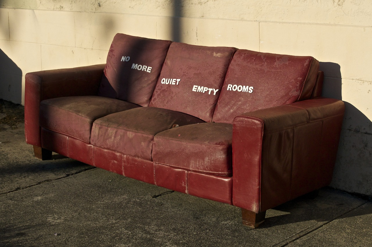 Couch - No More Quiet Empty Rooms - Art by Miguel Marquez Outside