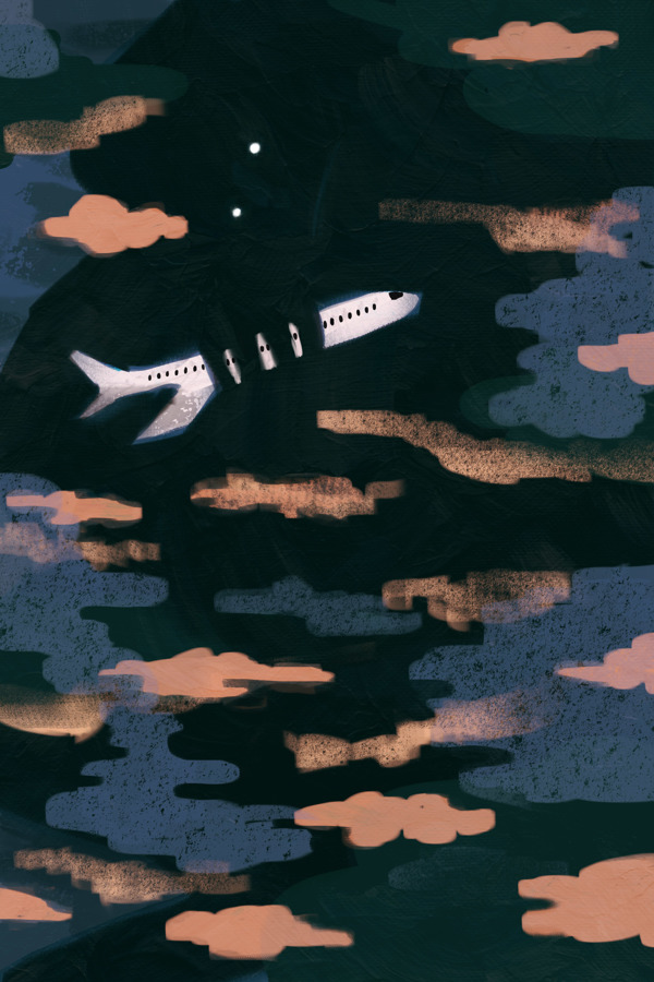 Airplane Angst - Art by Victoria Borges