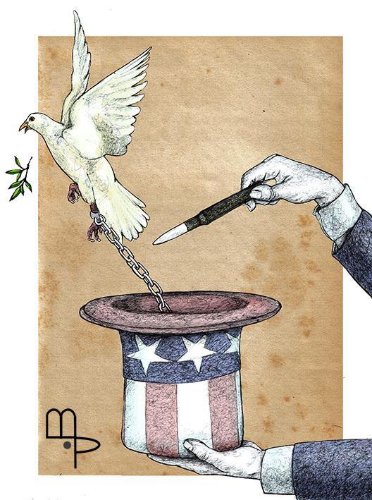 Bad Magician - Cartoon by Mauricio Parra