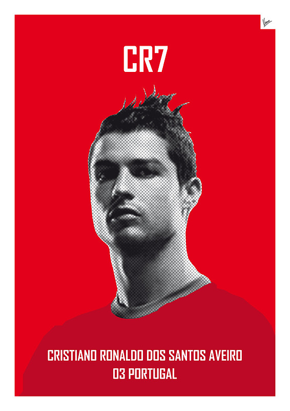CR7 - Cristiano Ronaldo dos Santos Aveiro - Football Legends Poster by Chungkong