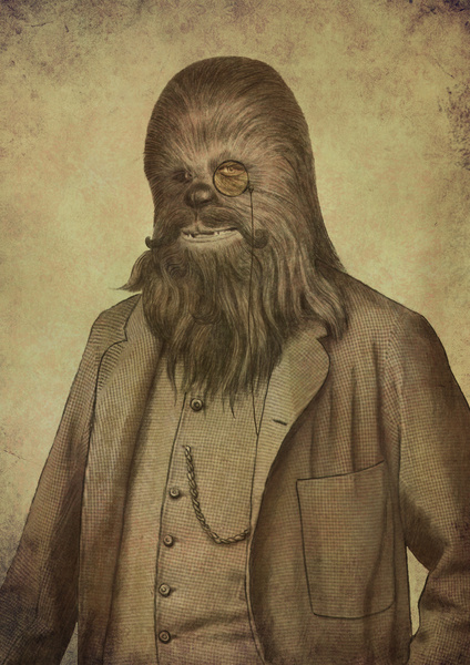 Chancellor Chewman - Victorian Wars - Star Wars Art by Terry Fan