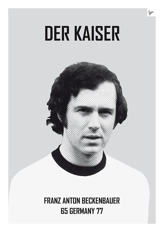 Der Kaiser - Franz Anton Beckenbauer - Football Legends Poster by Chungkong