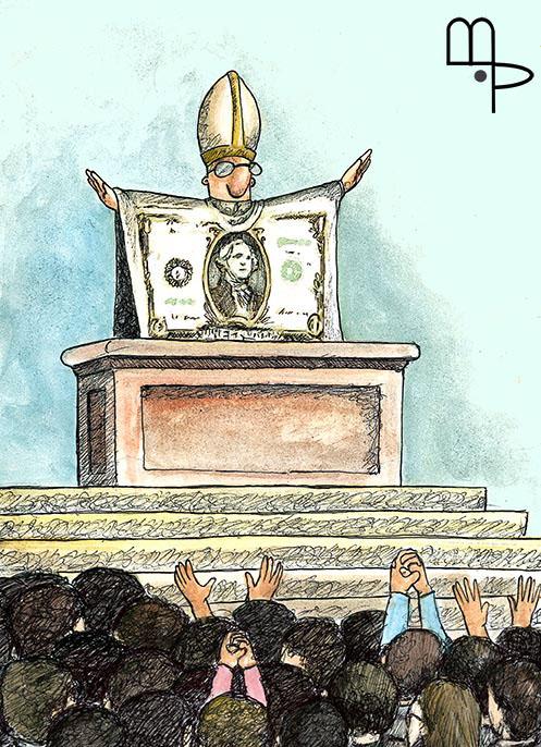 Fake Messiah - Cartoon by Mauricio Parra