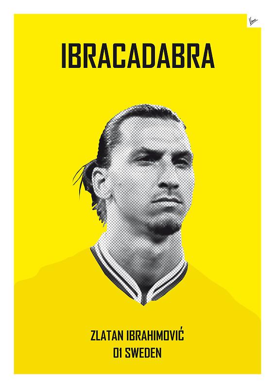 Ibracadabra - Zlatan Ibrahimovic - Football Legends Poster by Chungkong