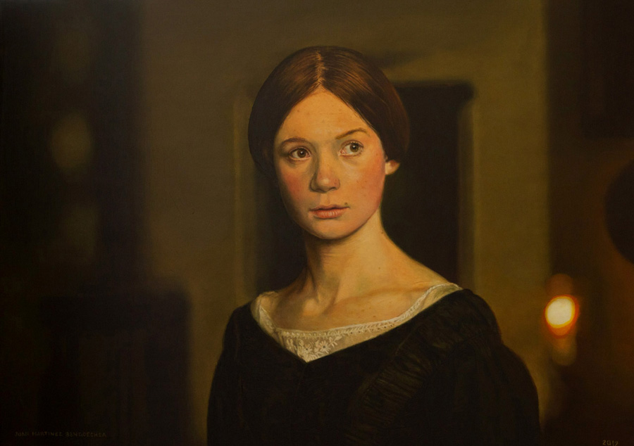 Rostro ( Fotograma Jane Eyre) - Painting by Juan Martínez Bengoechea