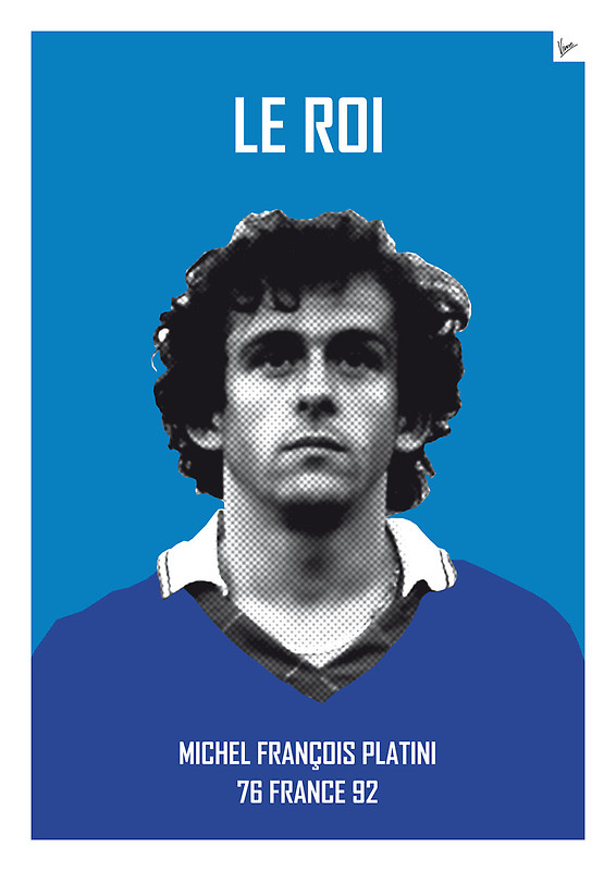 Le Roi - Michel Francois Platini - Football Legends Poster by Chungkong