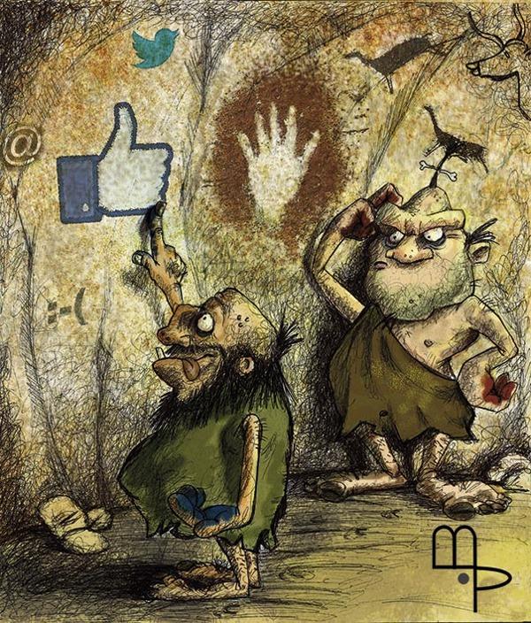 New Media - Cartoon by Mauricio Parra