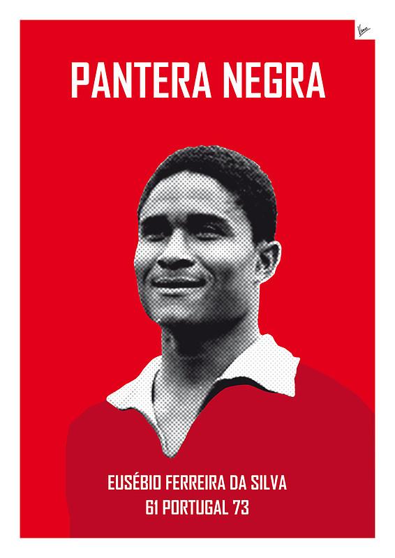 Pantera Negra - Eusebio Ferreira da Silva - Football Legends Poster by Chungkong