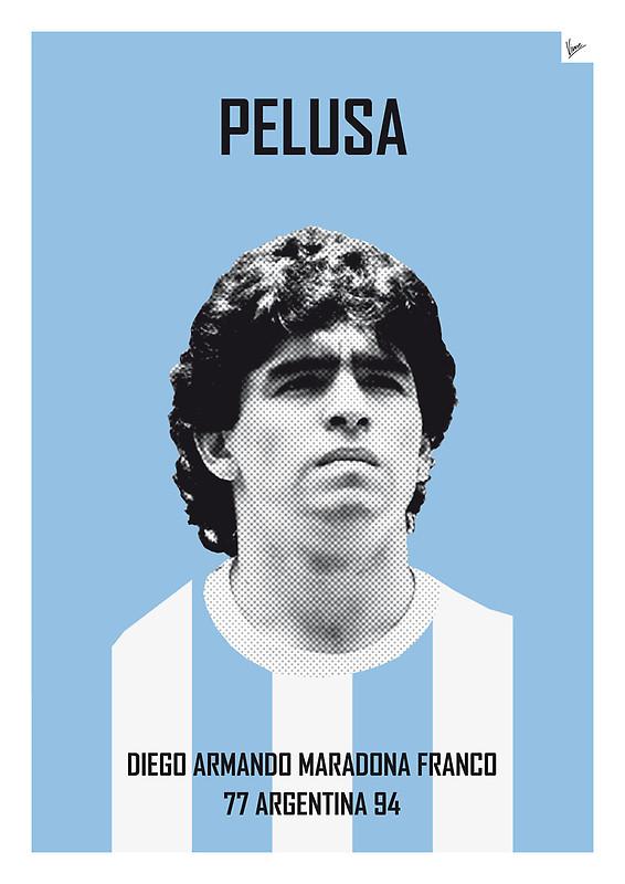Pelusa - Diego Armando Maradona Franco - Football Legends Poster by Chungkong