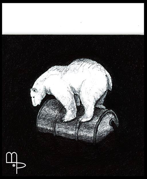 Polar Bear - Cartoon by Mauricio Parra