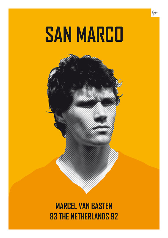 San Marco - Marcel Van Basten - Football Legends Poster by Chungkong