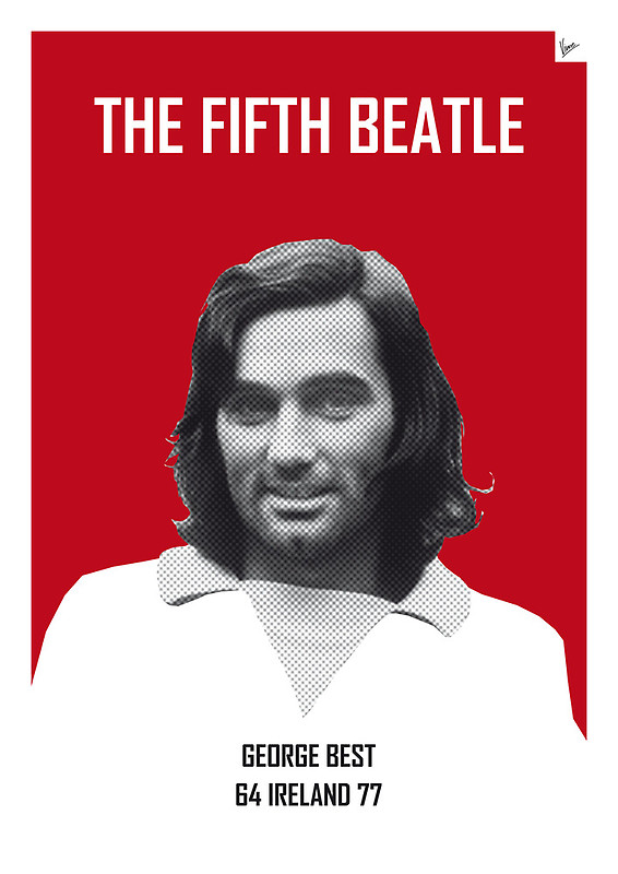 The Fifth Beatle - George Best - Football Legends Poster by Chungkong